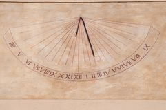 Wall sundial Stock Photos