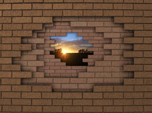 Wall sunset Royalty Free Stock Photography
