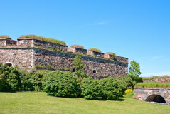Wall of Suomenlinna Royalty Free Stock Photos