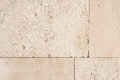 Wall surface from old yellow coquina stone Royalty Free Stock Photos