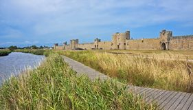 Wall of Aigues-Mortes Royalty Free Stock Photography