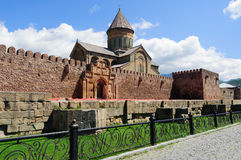 Wall of the Svetitskhoveli Cathedral Royalty Free Stock Image