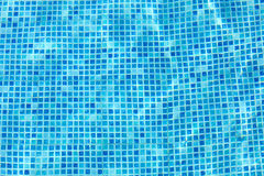 Wall of swimming pool Stock Photos