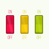 Wall Switch on, off position. Royalty Free Stock Photo