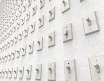 Wall of switches Royalty Free Stock Photos