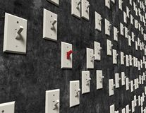 Wall of switches Royalty Free Stock Image