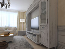 Wall system in luxury lounge Stock Photo
