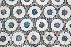 Wall tails from Topkapi Palace in Istanbul Royalty Free Stock Photo
