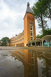Wall of Teacher College of Dalat after the rain Stock Photography