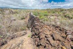 Wall Of Tears, Muro de las Lagrimas, Isabela Island, Galapagos Islands, Ecuador Royalty Free Stock Photo