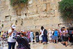 View of the Temple of the Western Wall of Jerusalem. Wall of Tears. Israel stock photography