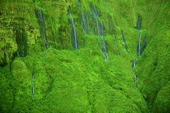 'Wall of Tears' waterfalls, Maui, Hawaii stock photography