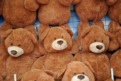 Wall of Teddy Bears Stock Images
