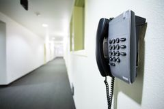 Wall telephone Royalty Free Stock Image