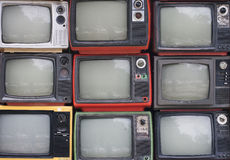 A wall of televisions Royalty Free Stock Photos