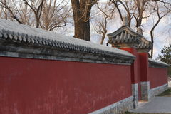 Wall of a temple Royalty Free Stock Photography