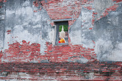 Wall of Temple. Ayudhaya, Thailand Stock Photography