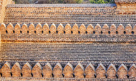 Wall of the temple in Bagan, Myanmar Stock Photography