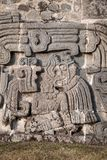 Wall of the Temple of the Feathered Serpent Stock Image