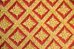 Wall temple Thai style pattern Royalty Free Stock Photos