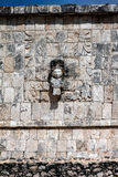 Wall of the Temple of a Thousand Warriors in Chichen Itza Royalty Free Stock Photo