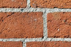 Wall of terracotta bricks Stock Image