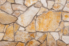 Wall texture. With different type and color of stones Stock Image