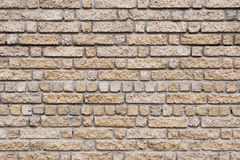 Wall texture. With different size of bricks Royalty Free Stock Photography