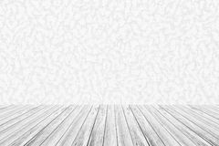 Wall texture background , process in white color with wood terra Royalty Free Stock Photos