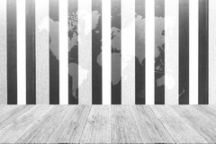Wall texture background , process in white color with wood terra Royalty Free Stock Photo