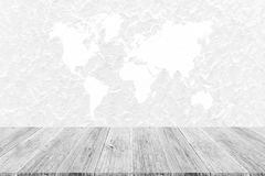 Wall texture background , process in white color with wood terra Royalty Free Stock Image