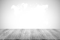 Wall texture background , process in white color with wood terra Stock Photography