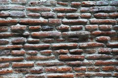 Wall texture. Brick wall in sight for texture Royalty Free Stock Images
