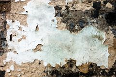 The wall texture with the damaged plaster and whitewash Royalty Free Stock Photos