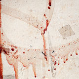 Wall texture with dripping blood Royalty Free Stock Image