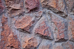 Wall texture of granite cobblestone Royalty Free Stock Image