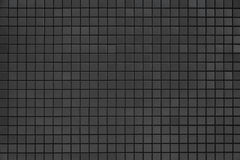 Wall texture. Grey and black mosaic wall texture and background Stock Photo