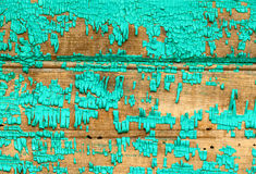 Wall texture. Old wooden wall with the dried and cracked green paint Royalty Free Stock Photos