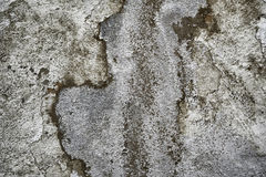 Wall texture. Rough texture of old whitewash peeling off wall resembling an aerial snow landscape Stock Images