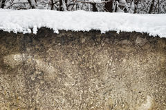 Wall texture with snow on top Royalty Free Stock Image
