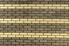 Wall of decorative brick falsework Royalty Free Stock Photo