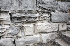 Wall with textured rock Stock Image