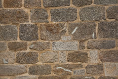Wall with textured stone blocks Royalty Free Stock Photography