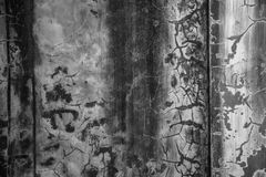 Wall textures and cracks. Cracked cement wall and some cracks Stock Photography