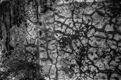 Wall textures and cracks. Cracked cement wall and some cracks Stock Photo