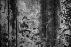 Wall textures and cracks. Cracked cement wall and some cracks Royalty Free Stock Photo