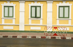 Wall at Thai Ministry of defenceYellow wall at Thai Ministry of defence. Yellow wall at Thai Ministry of defence Royalty Free Stock Image