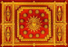 Wall in Thailand temple. With  soft tone Royalty Free Stock Photography