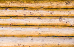 Wall of thick timber beams Royalty Free Stock Photography