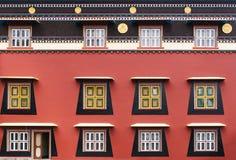 Wall of the tibetan monastery. Royalty Free Stock Photography